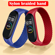 Braided SOLO Loop for Xiaomi Mi Band 6 5 3 4 Sport Strap Watch Wrist Strap for Xiaomi Mi Band 3 4 Bracelet Strap Smart Bracelet