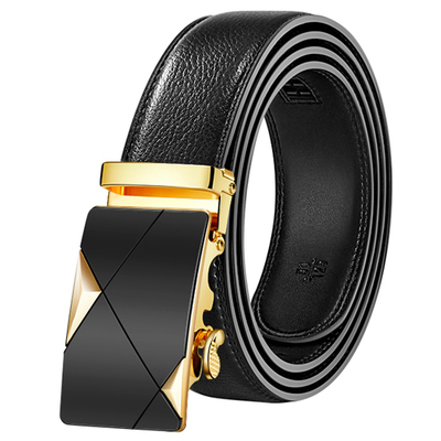 Mens Fashion Belt PU Leather Automatic Buckle Men Black Belt Designer Popular Casual Business Male Belts Luxury 3.5 CM