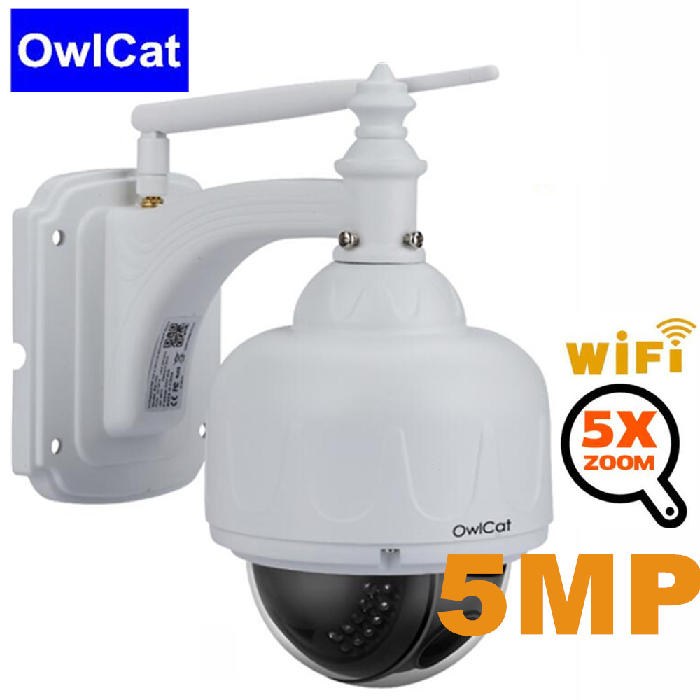 OwlCat Home Scurity IP Camera PTZ Wifi 5MP 1080P Wireless Network CCTV Camera P2P 5X Zoom