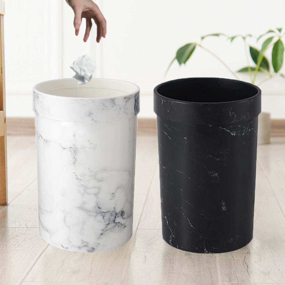Marble Pattern Trash Cans Bedroom Trash Can Living Room Waste Bin Office Garbage Bucket Without Lid European Style Dustbin Hot Waste Bins Aliexpress