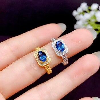 Recién llegado, anillo de topacio Natural Real, anillo de compromiso de boda, anillo de topacio rosa, joyería fina al por mayor, anillo de plata 925