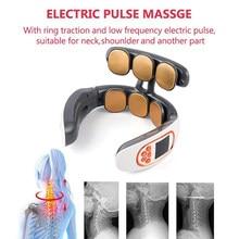 6 Heads Neck Massager Shoulder Cervical Massager Smart Remote Control Electric Hot Compress Pulse Neck Protector Relax Cervical