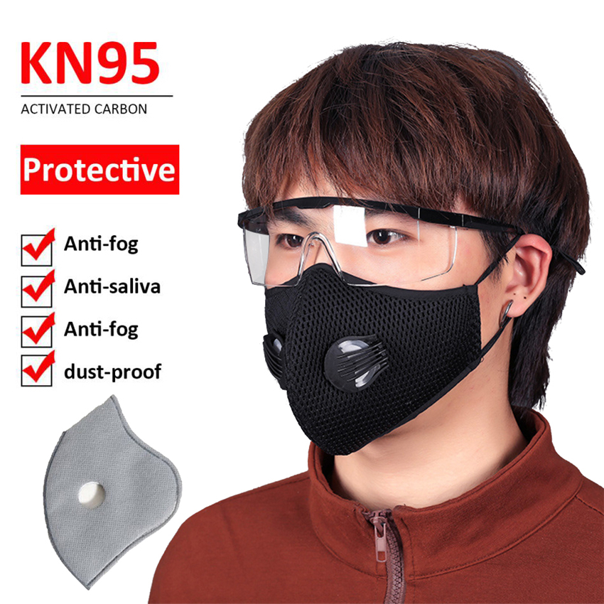 1/5pcs Cycling Masks Anti Dust Pollution Mask Air Filter Activated Carbon PM2.5 Mouth Face Mask with Replaceable Filter Pads