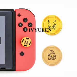 Image 5 - IVYUEEN 2 pcs for Nintendo Switch Lite Mini Joy Con Joy Con Animal Crossing Joystick Thumb Grip Cover Case Analog Stick Caps