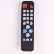 2 dispositivos de controle remoto universal com função de aprender, copiar código ir para tv vcr stb dvd dvb, caixa de tv, fácil para pessoas idosas.