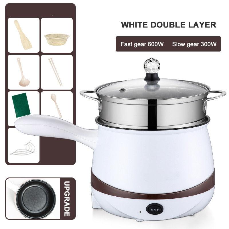 110V/220V Electric Cooking Pot Multicooker Skillet Food Steamer Rice Cooker Fornello Non-stick Coating Heating Pan Elektroherd