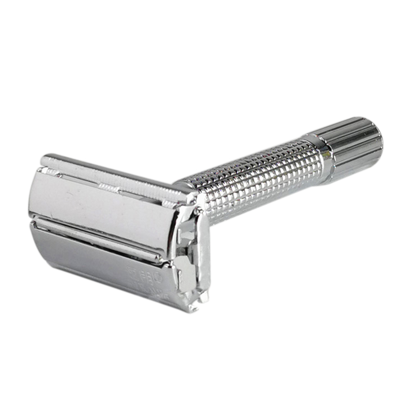 Classic Handle Razor Blade Hair Clipper Razor Double Blade Butterfly Twist Opening T-Shaped Shaving Knife Unisex Distribution