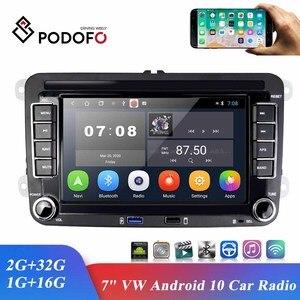 Автомобильный мультимедийный плеер Podofo, стерео-система на Android 10,0, с 7