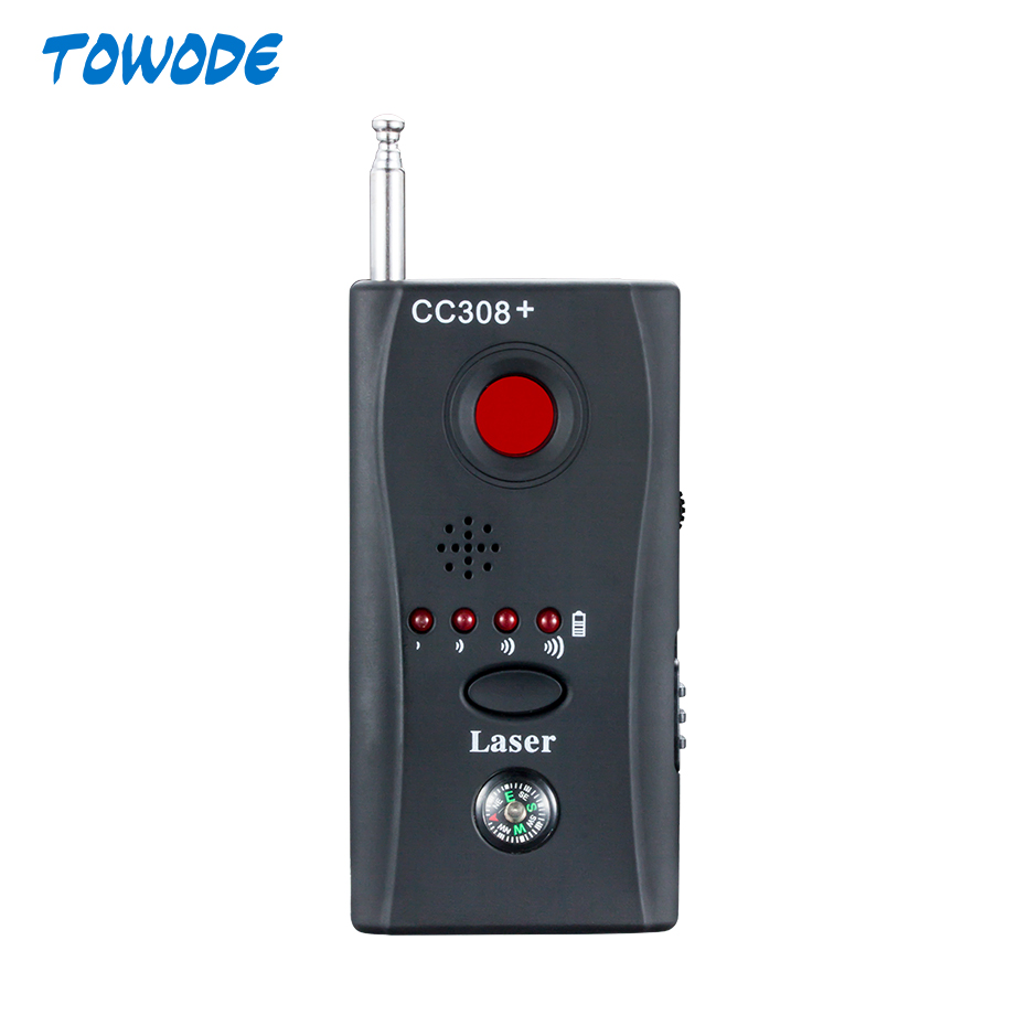 Towode Wireless Anti-spy Full Frequency Detector Laser Detector Compass For Personal Privacy Security GSM Camera Finder