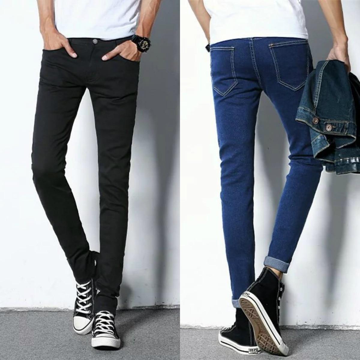 2019 Autumn New Style MEN'S Jeans Hot Selling Slim Fit Pants Men's Trousers Trend Versitile Fashion Korean-style Long Pants