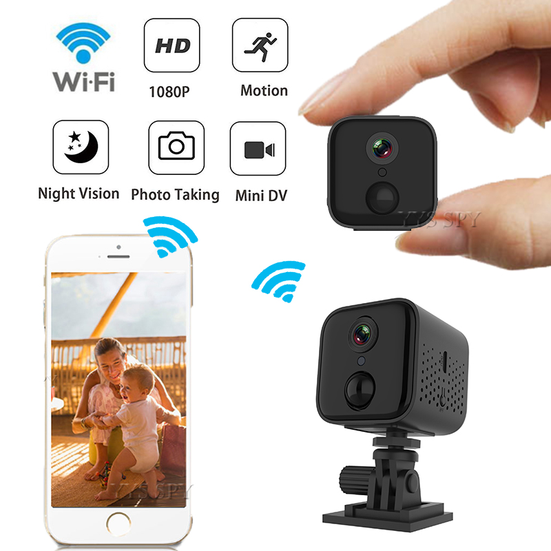 1080P Mini WiFi IP Camera PIR Night Vision Motion Detect Alarm Security Camaras Espia Baby Monitor HD Video Camcorder Micro Cam image