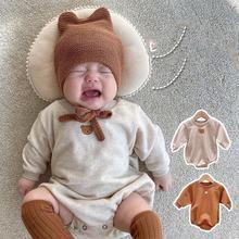 Одежда для маленьких девочек; Комбинезон с рисунком медведя;