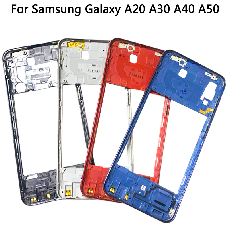 Middle Frame Bezel Plate Cover Replacement Parts For Samsung Galaxy A20 A30 A40/A210 A50 Mid Frame Housing Case