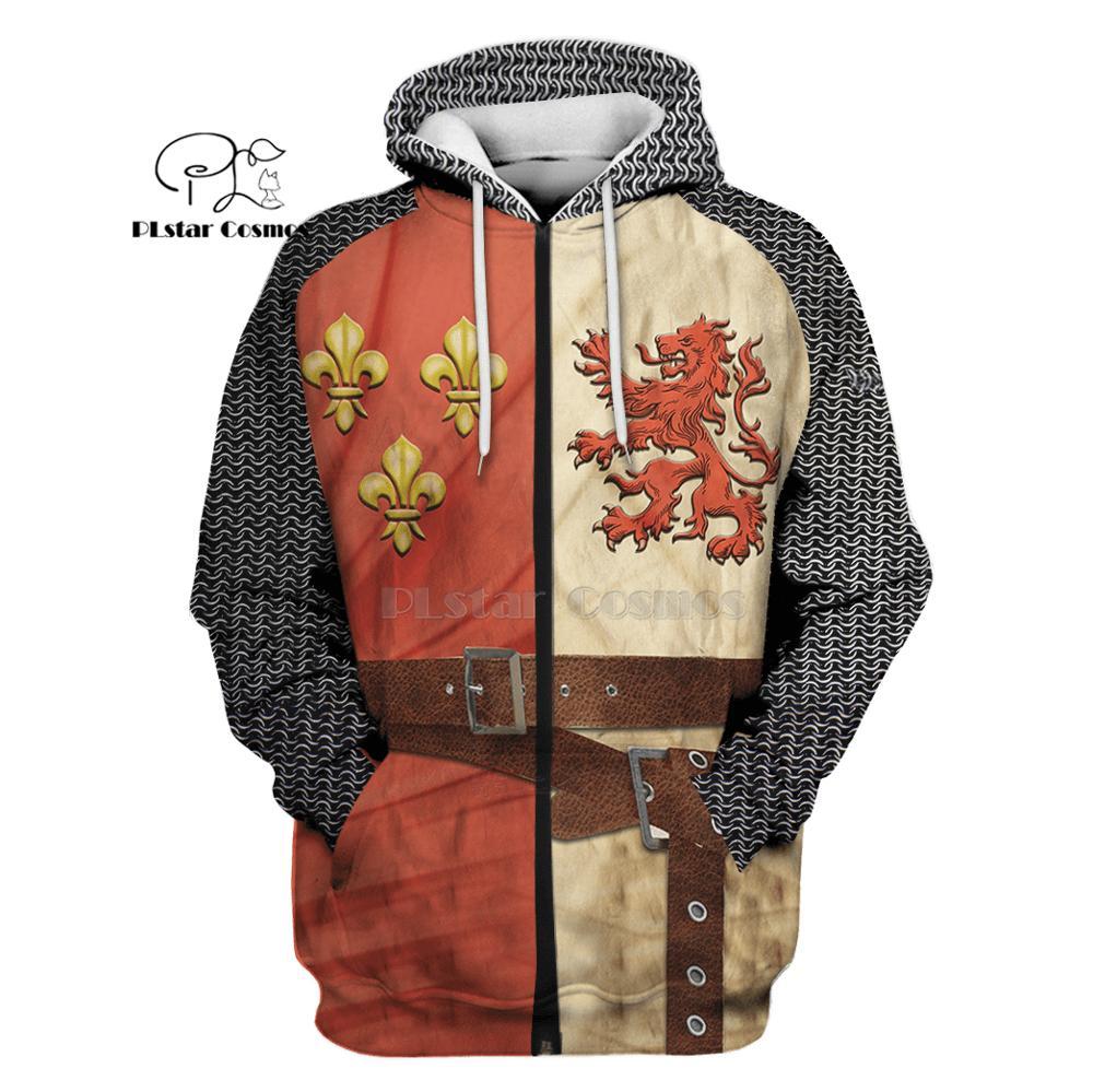 PLstar Cosmos All Over Printed Knights Templar 3d hoodies shirt Sweatshirt Winter autumn funny Harajuku Long sleeve streetwear in Hoodies amp Sweatshirts from Men 39 s Clothing
