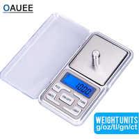 Oauee-báscula electrónica Digital de bolsillo para joyas de plata de ley y oro, 200g/300g/500g/0,01g/0,1g