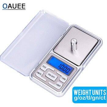 Oauee 200g/300g/500g x 0,01g/0,1g/мини электронные весы Карманные электронные весы для Ювелирные изделия из золота, стерлингового серебра баланс грамм