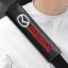 2PCS Car Seat Belt Cover Shoulder Pad Comfortable Driving For MAZDA Axela 2 3 CX6 CX-5 CX4 CX3 CX8 CX9 2019 2015 Car Accessories