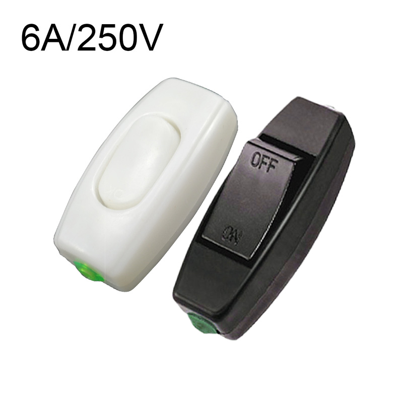 1PC 6A 250V Rocker Switch Lnline ON/OFF Table Lamp Desk Light Control Switch Hot Sale Socket Electric Switch Electrical Parts