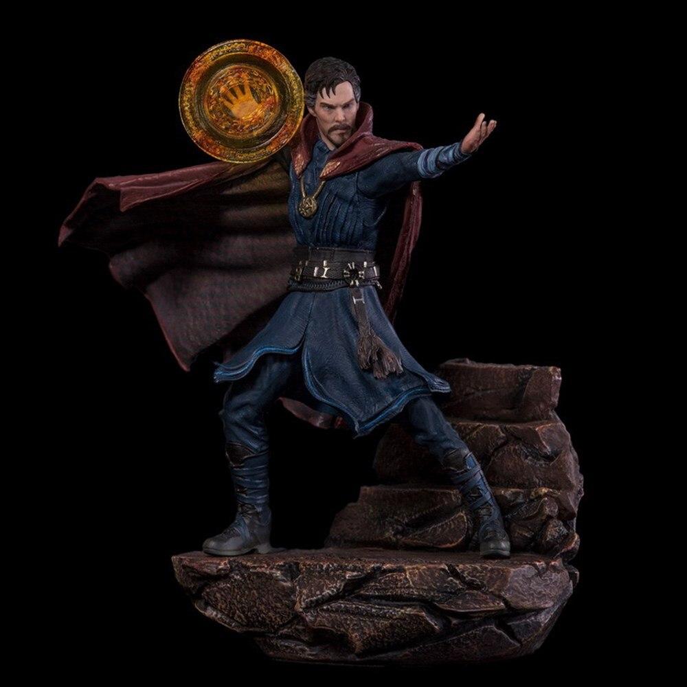 Marvel figurines d'anime docteur modèle étrange Statue les vengeurs Loki jouets 1/10 19cm Action figurales Thor Hulk Spiderman Juguetes
