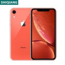 Usado original iphone xr smartphones 6.1 polegada a12 rosto desbloqueado 3 + 64/128/256gb telefones celulares lte 4g 7 + 12mp 1sim cartão nfc celular