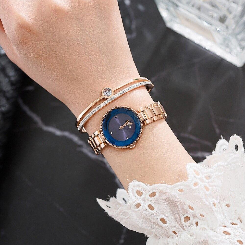 Ensemble de montre diamant Bracelet mignon dauphin collier cadeaux de dame 14
