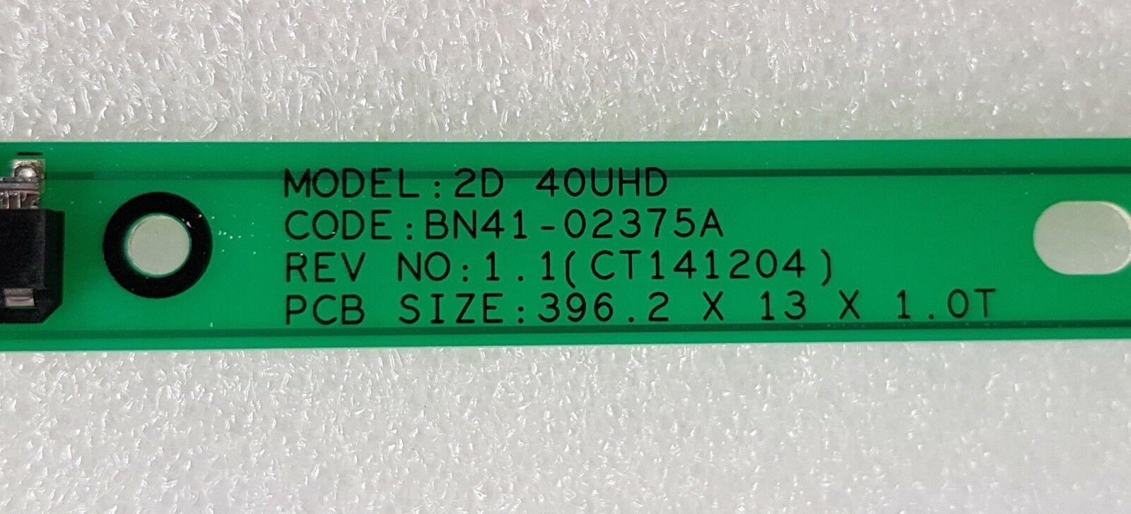 Image 3 - 10 części/partia BN96 34791A BN96 34792A telewizor LED z dostępem do kanałów SAMSUNG UE40KU6100 UE40JU6400 UE40MU6105 100% nowyPodstawy lamp   -