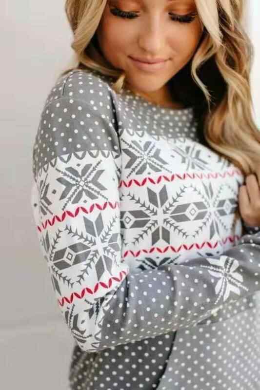 2020 Terbaru Hot Tema Natal Wanita Lengan Panjang Pola Natal Dicetak Baju Musim Dingin Hangat Kasual Pullover Atasan
