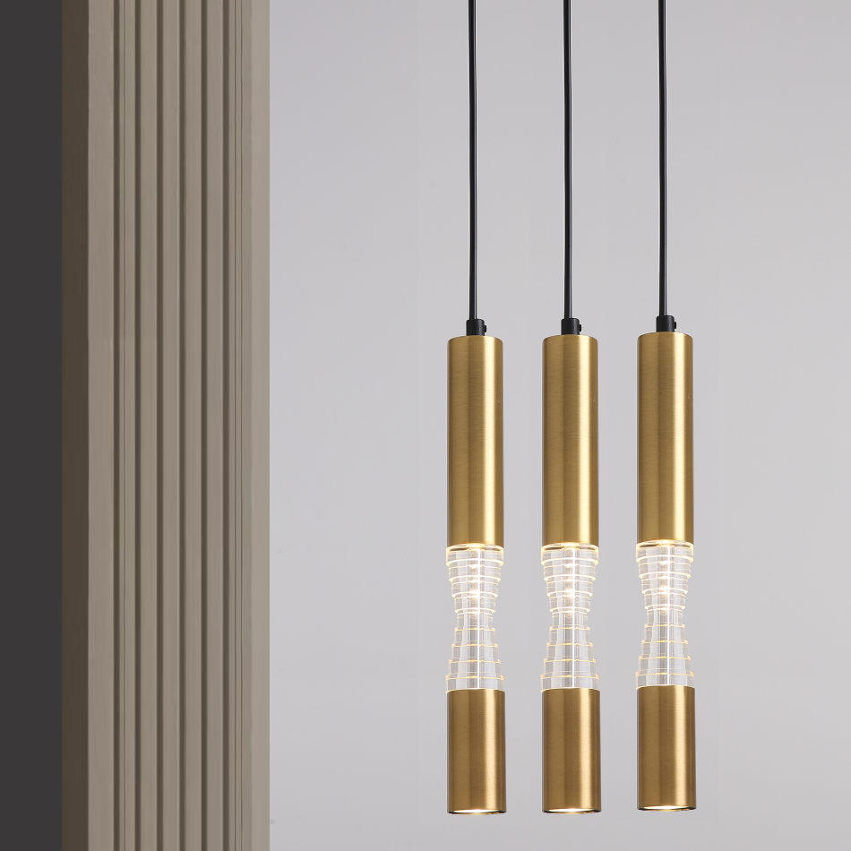 Led Pendant Lamp Long Tube Light  Kitchen Island  Dining Room Shop Bar Counter Aluminum&Acrylic Hanging Light Kitchen Lamp