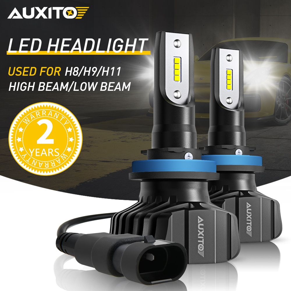 2PCS H11 HIR2 <font><b>9012</b></font> <font><b>LED</b></font> H8 H9 H4 9005 9006 Car <font><b>LED</b></font> Headlight Bulbs 9000LM Auto Fog Light Bulbs 6500K White Auto <font><b>LED</b></font> Headlamp image