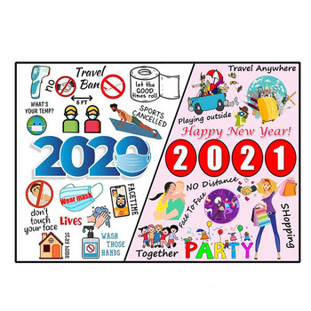 1000PCS Christmas Puzzle 2020 Event Commemoration Beautiful Stylish Jigsaw For Kids Adults Gifts Boring Time Decoration