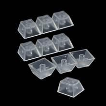 10 шт прозрачные abs колпачки для ключей механическая клавиатура