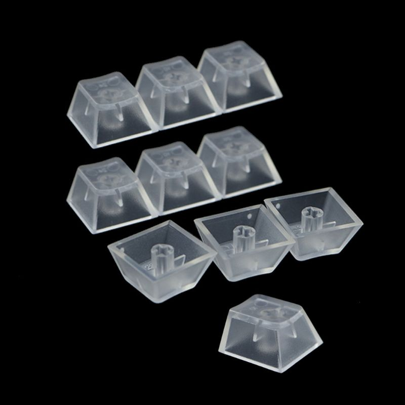 10Pcs Transparent ABS Keycaps Mechanical Keyboard Keycaps Matte Backlit Keycaps M5TB