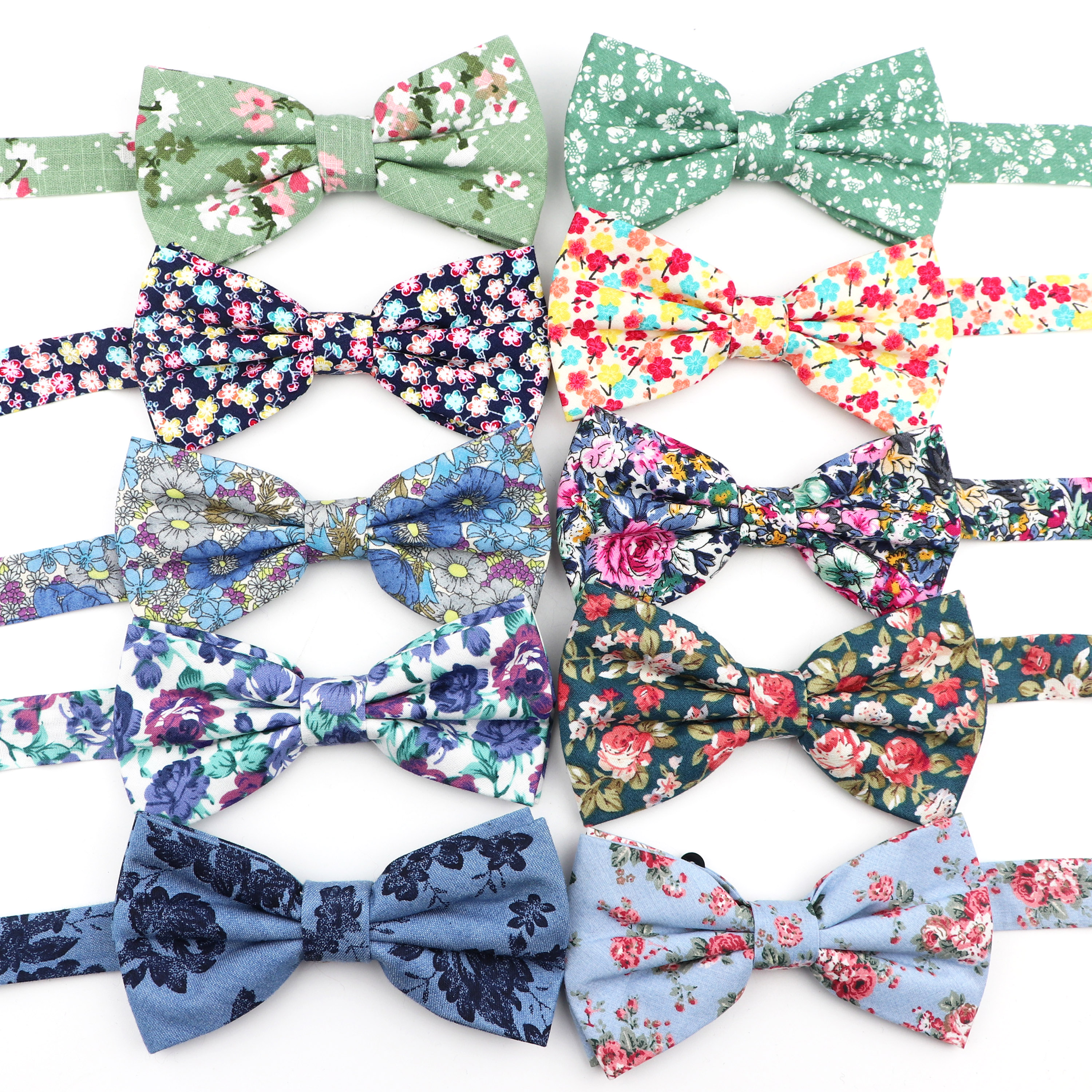 New Chic Vintage Floral Bowtie Mens Fashion Novelty Handmade Cotton Butterfly Party Dinner Wedding BowTie Gift Bowknot Accessory