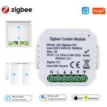 Module de commutateur de rideau Zigbee Tuya Smart Life, pour volet roulant, moteur de store, télécommande avec application, prise en charge de Google Home, 3/2/1 pièces