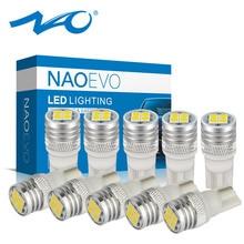 NAO 10x W5W T10 1.9W 5W5 LED Light Car WY5W 12V 3030 400Lm 168 194 For E46 E60 E90 F10 F30 E39 F20 F87 X5 E70 Auto Interior Bulb