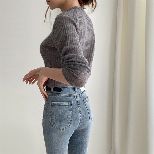 Ailegogo 2020 Autumn Winter Women's V-Neck Sexy Knitwear Stylish Knitted Button Cardigans Korean Lady Sweaters SWC2205 6