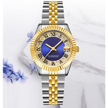 Zegarki dla par para modnych złote zegarki pasek stalowy zegarki damskie zegarki męskie luminous zegarki biznesowe tanie tanio Moda casual Cyfrowy Ze stopu Nie wodoodporne CN (pochodzenie) Przycisk ukryte zapięcie