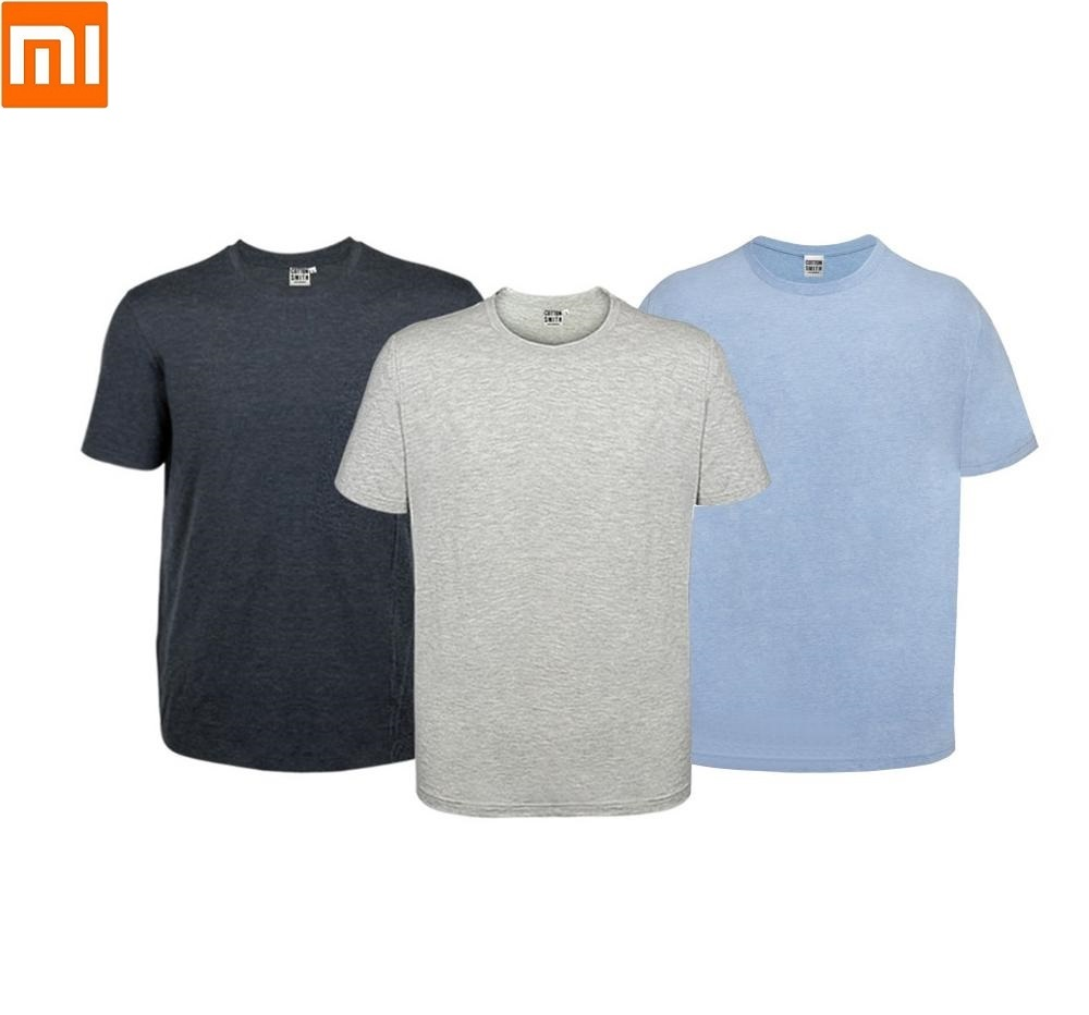 Xiaomi Cottonsmith Man Home T-shirt 2pcs Loose Comfortable Soft Refreshing Breathable Short Sleeve Sweatshirt Sportswear Summer