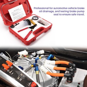 Image 3 - มัลติฟังก์ชั่มือถือเบรค Bleeder Tester ชุดปั๊มสูญญากาศรถยนต์ Self ชุดเบรค Bleeder สกรูอะแดปเตอร์กระเป๋าถือ
