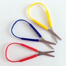 6 шт красочные петельные ножницы для детей легко захватывающие