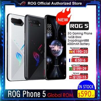 Asus rog telefone 5 | 5 pro | ultimate 5g snapdragon888 android11 6000mah carregamento rápido 65w rog5 telefone de jogo profissional 1