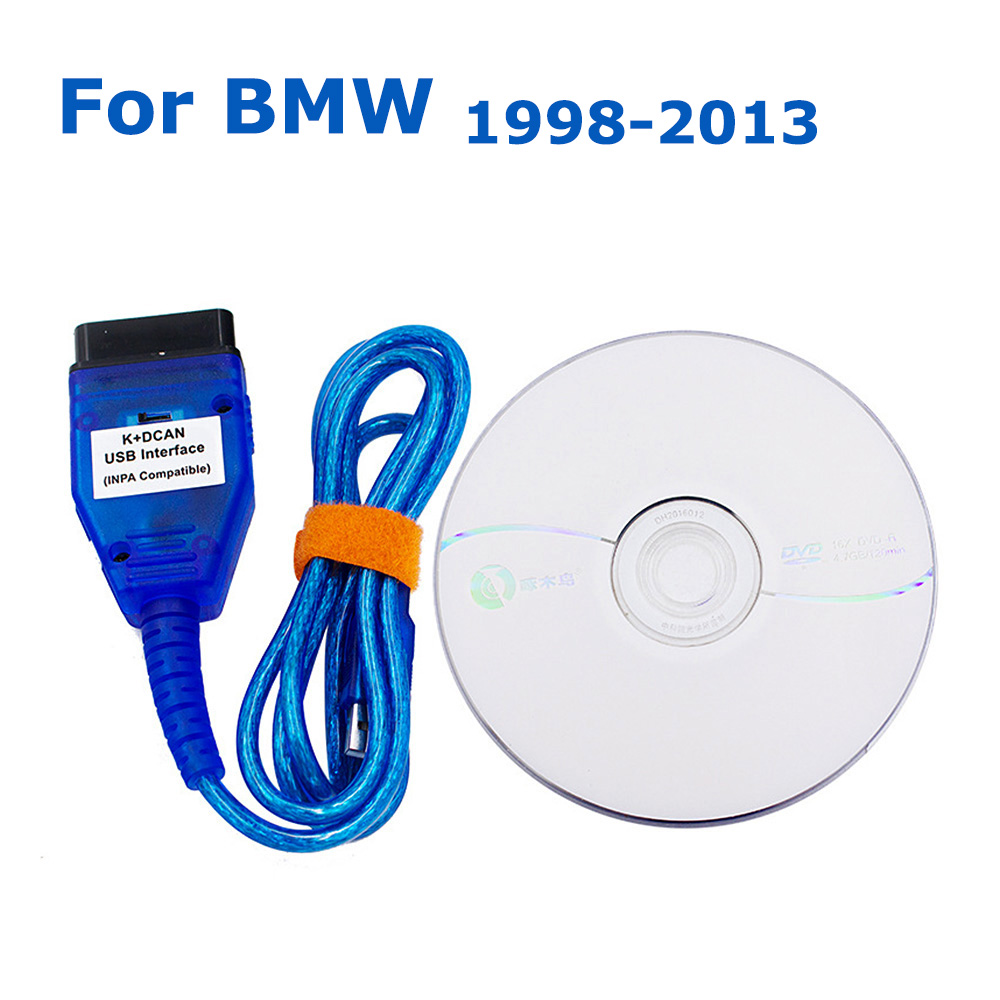INPA K CAN DCAN K line With FTDI FT232RL For <font><b>BMW</b></font> E60 E61 E81 E83 E87 E90 E91 E92 E93 E70 OBD2 Car <font><b>Diagnostic</b></font> <font><b>Scanner</b></font> Cable image