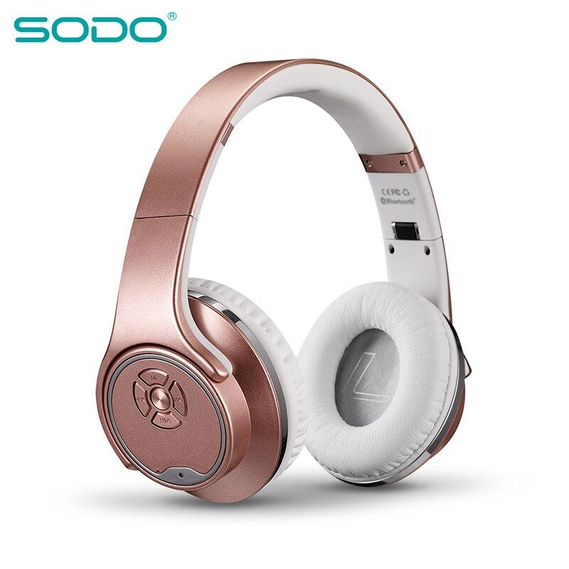 Dobrável sem Fio Fone de Ouvido Sodo Bluetooth Estéreo Cabeça-montado Esportes Áudio Universal Mh1 Cartão Alto-falante