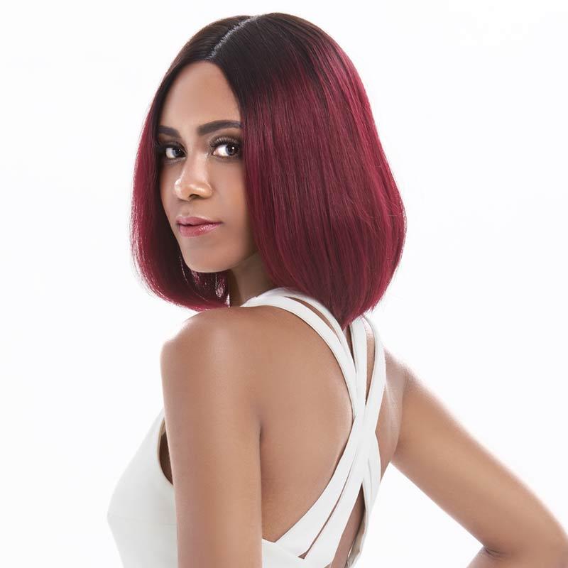 """Rebecca bob парики на кружеве для черных женщин перуанские короткие парики из человеческих волос Омбре человеческие волосы парик Средняя часть 1"""""""