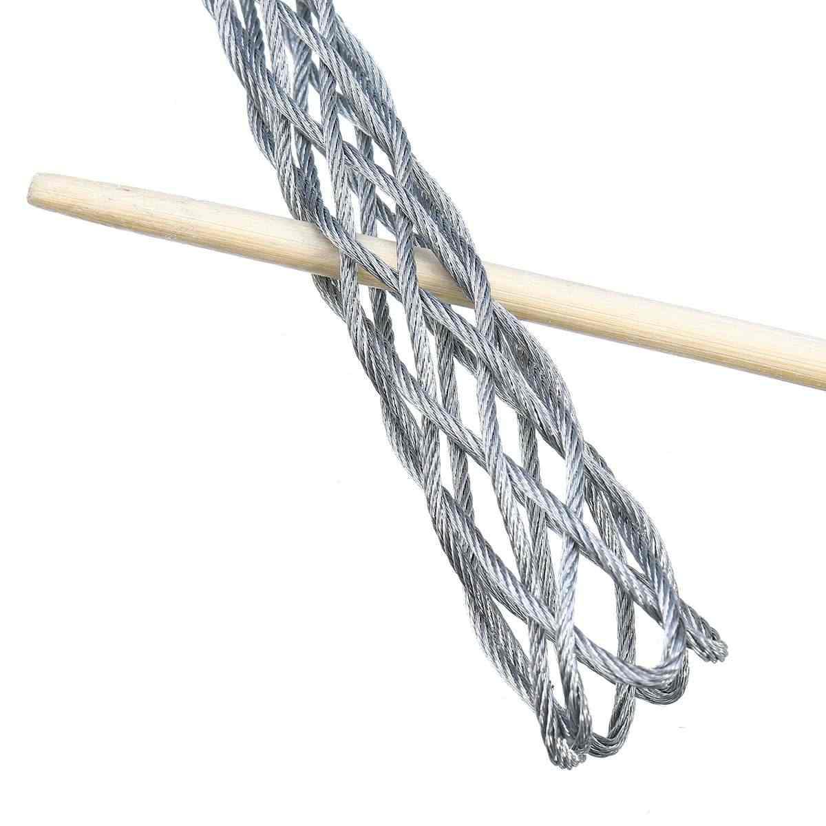 Galvanisation métal câble chaussettes anti-dérapant tuyau Conduit câble extracteur fil poignées tirer Net couverture accessoire pour 4 6 10 12 15 20 25mm