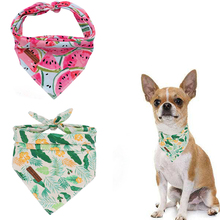 2 Pcs Unique Style Paws Dog Cat Bandana Accesseries Pet Product Gift for Bandage Collar Watermelon Leaves