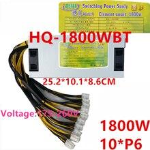 Блок питания для QIYI 2U одноканальный 12V блок питания 10* P6 1800W блок питания HQ-1800WBT
