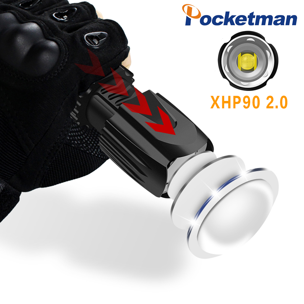 Level Up XHP90 Led Lamp Bead XHP90 2.0 Torch Flashlight Newest Tactical Flash Light Zoom Waterproof Use 18650 Battery 26650