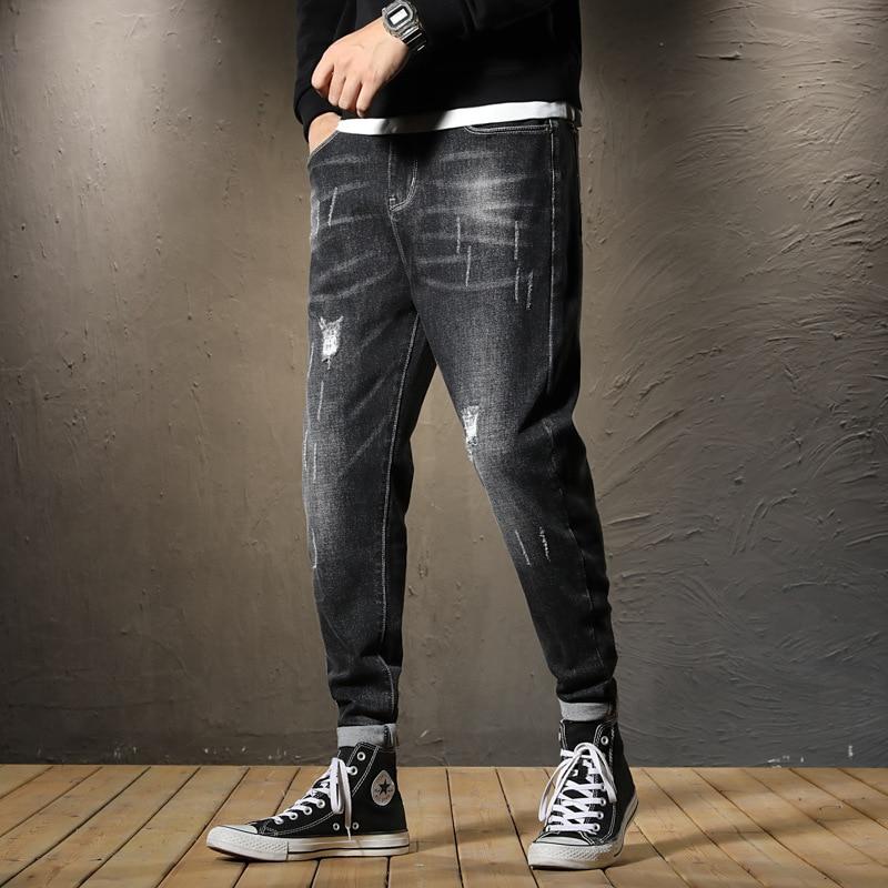 Hot Sales Autumn New Products Japanese-style Loose Elasticity MEN'S Jeans MEN'S Jeans Men Harem Pants 838
