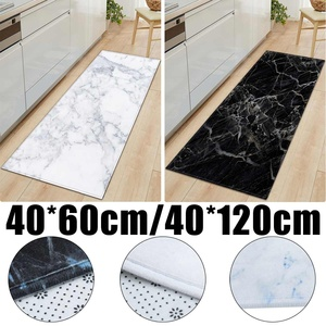 Home Anti-Slip Kitchen Carpet Black White Marble Printed Entrance Doormat Floor Mats Carpets for Living Room Bathroom Mat Rugs
